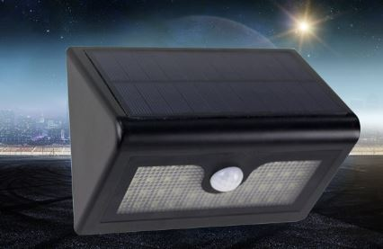 LED Dimmable Motion Sensor Solar Wall Lamp